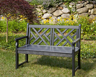 POLYWOOD Chippendale 4-Ft. Bench