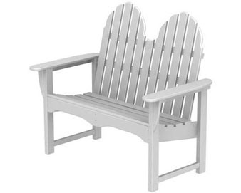 POLYWOOD Recycled Plastic Bench - 48-1/2L x 27W x 41H