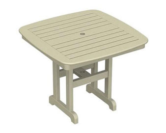 POLYWOOD Nautical 37 Square Dining Table