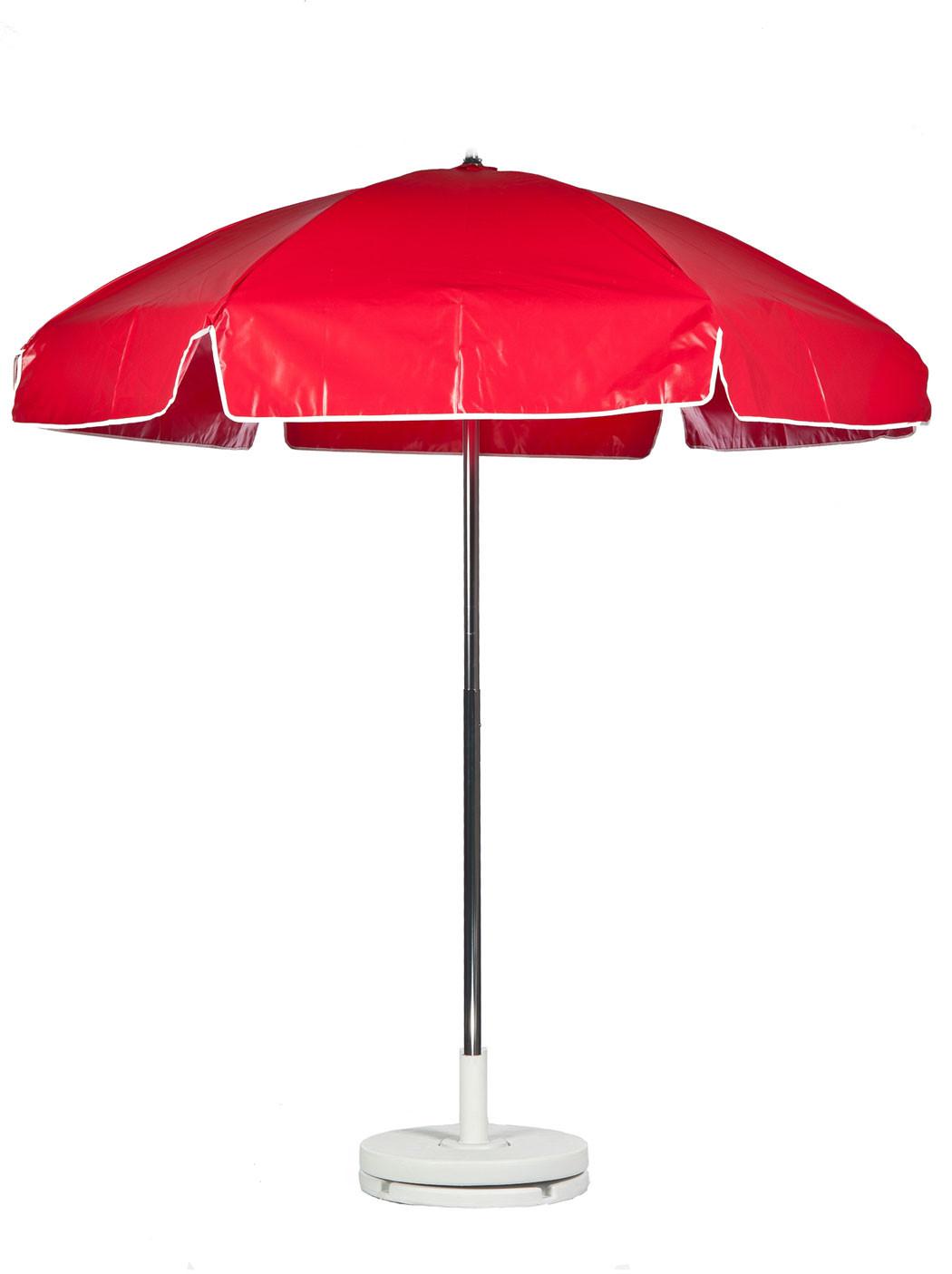 6.5' Diameter Steel Lifeguard Umbrella w 6-Panel Heavy Gauge Vinyl Cover