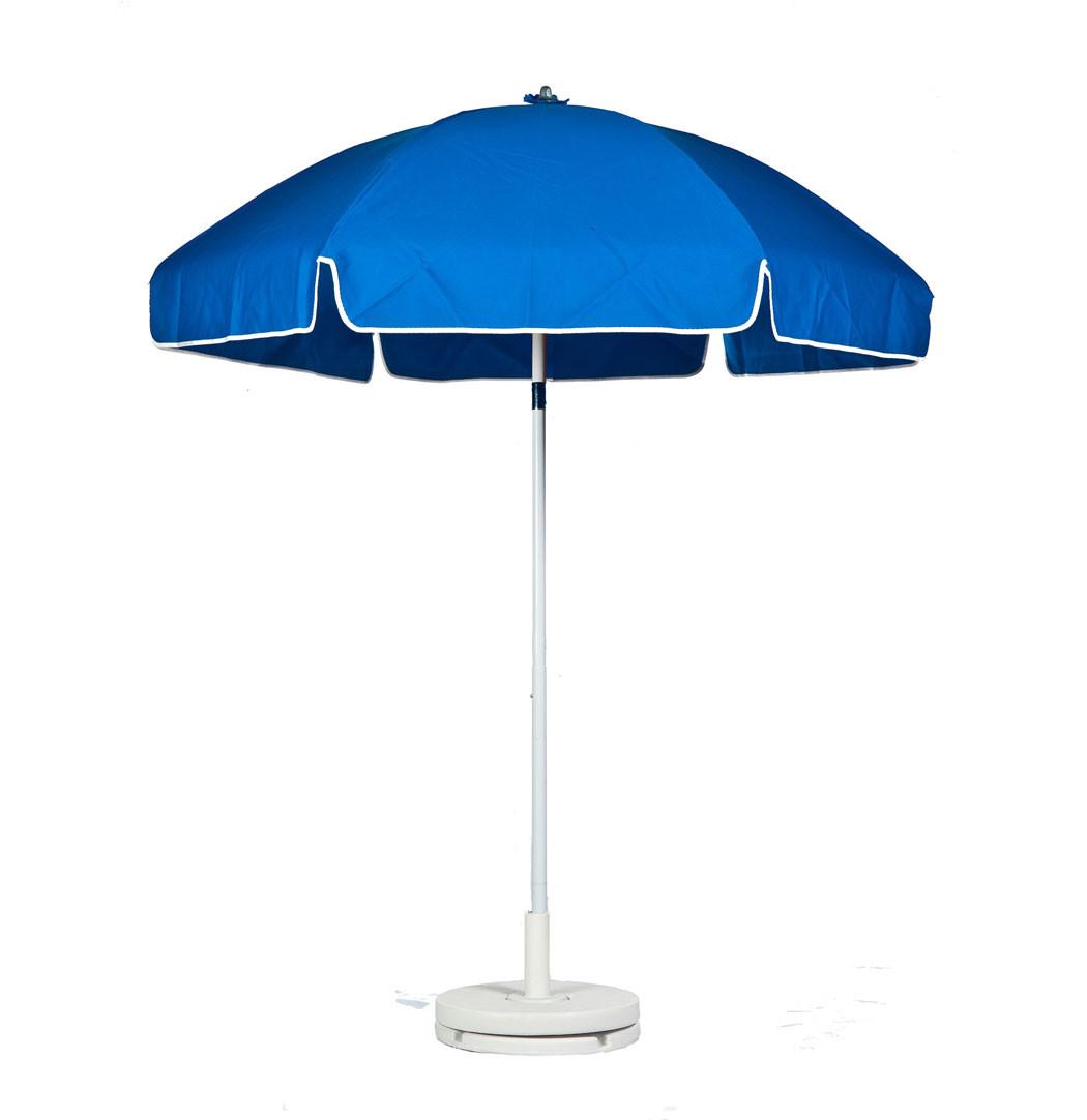 6.5 Diameter Fiberglass Lifeguard Umbrella w Sunbrella Cover Standard