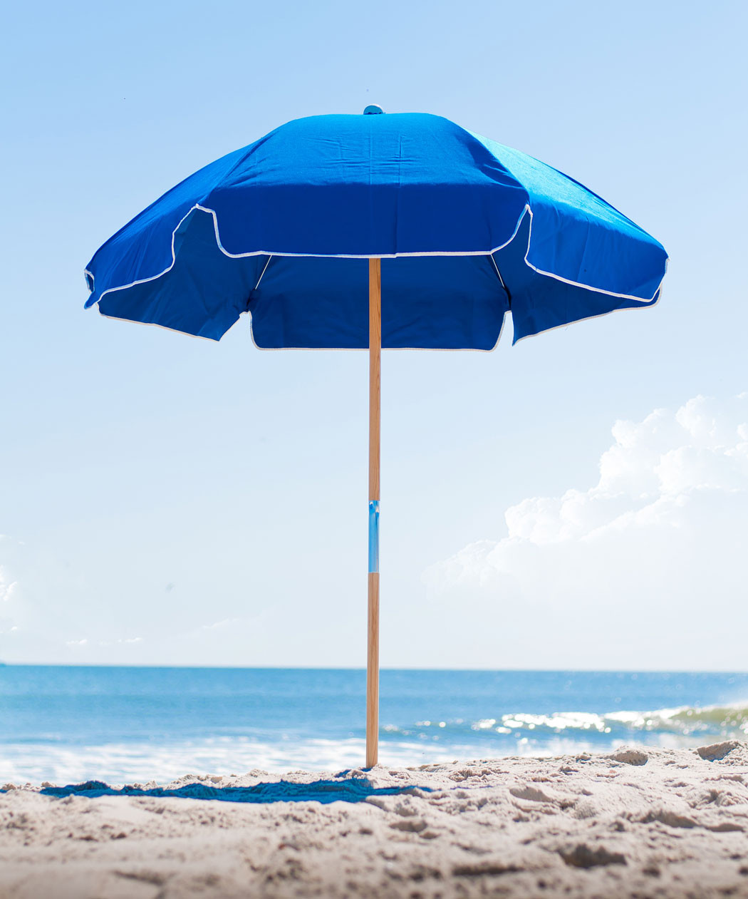 6.5' Diameter Steel Beach Umbrella with 6-Panel Sunbrella® Cover