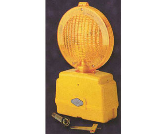 Flasher Light for Barricades - 6-Volt with Photocell