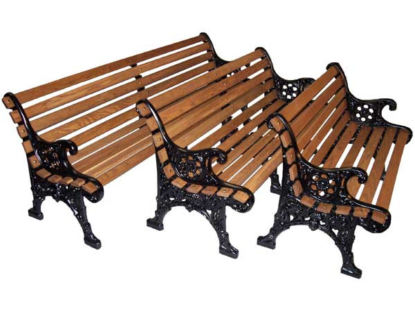 Oak Renaissance Park Bench