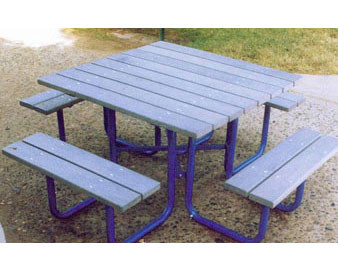 45 Square Recycled Plastic Picnic Table