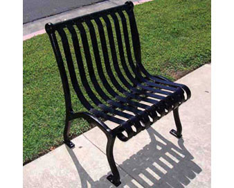 Powder-Coated Steel Strap Outdoor Chair
