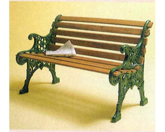 Recycled Plastic Renaissance Park Bench