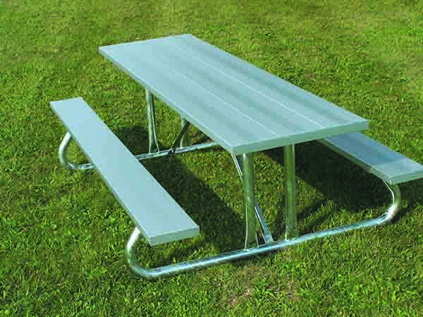 Heavy Duty Aluminum Picnic Table with Galvanized Frame