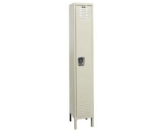 Hallowell 12Wide 1-Tier Premium Locker with Recessed Handle  Single Unit