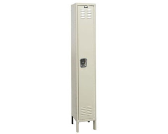 Hallowell 15W 1-Tier Premium Locker with Recessed Handle 1 unit assembled