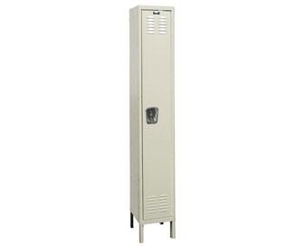 Hallowell 15W 1-Tier Premium Locker w Recessed Handle, 1 unit assembled