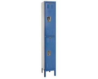Hallowell 15 Wide 2-Tier Premium Locker with Recessed Handle Single Unit