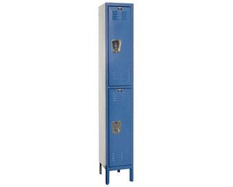 Hallowell 15W 2-Tier Premium Locker w Recessed Handle 1 unit assembled