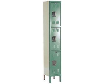 Hallowell 12W 3-Tier Premium Locker w Recessed Handle  1 unit assembled