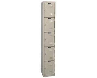 Hallowell 12W 5-Tier Premium Locker w Catch Door Pull  1 unit assembled
