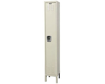 Hallowell 12W 1-Tier Ready-Built Locker with Recessed Handle Single Unit
