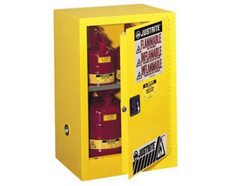 4 Gal Cab Man Yellow Flam Countertop with Sure-Grip® Ex Handle