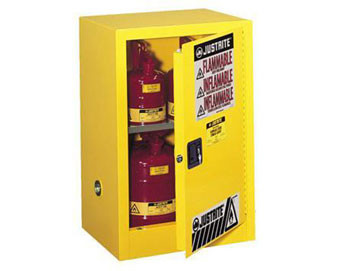 12 Gal Cabinet Man Yellow Flam Safe with Sure-Grip® Ex Handle