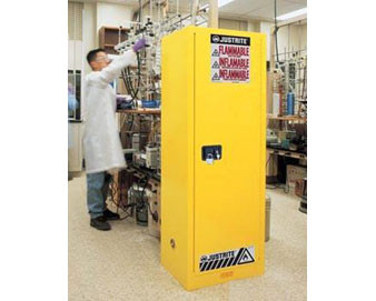 22 Gal Cabinet Slimline Man Yellow Flam with Sure-Grip® Ex Handle