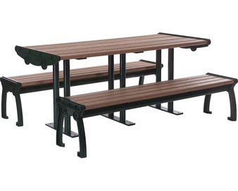 8' Contemporary Recycled Plastic Picnic Table.