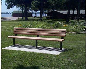 4-ft Recycled Plastic Bench (no arms)