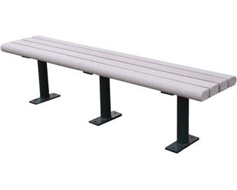 5 ft Recycled Plastic Bench without back
