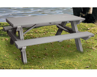 4 Ft Recycled Plastic Picnic Table The Park Catalog