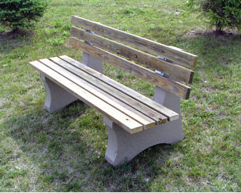 8-Ft. Concrete - Treated Lumber Bench