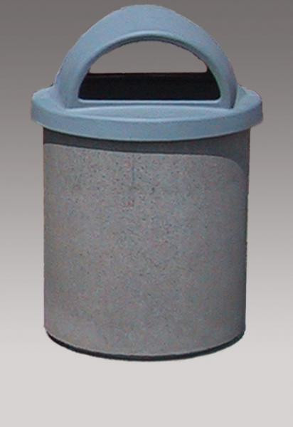 55-Gallon Receptacle - Hooded Lid
