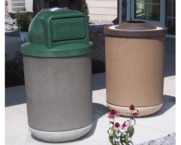 35-Gal. Elite Ash and Trash Receptacle with Pitch-In or Dome Lid