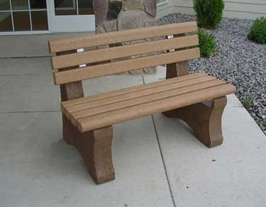 6' Bench (Recycled Plastic Boards) - Cedar Color Boards