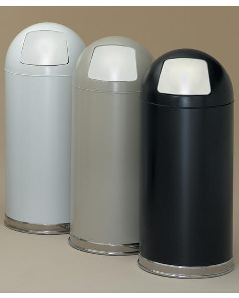 15-Gal. Dome Top Steel Trash Receptacle