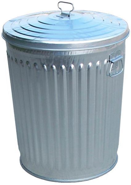 24-Gal. Galvanized Trash Receptacle