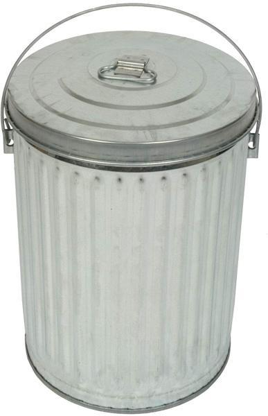 10-Gal. Galvanized Trash Receptacle