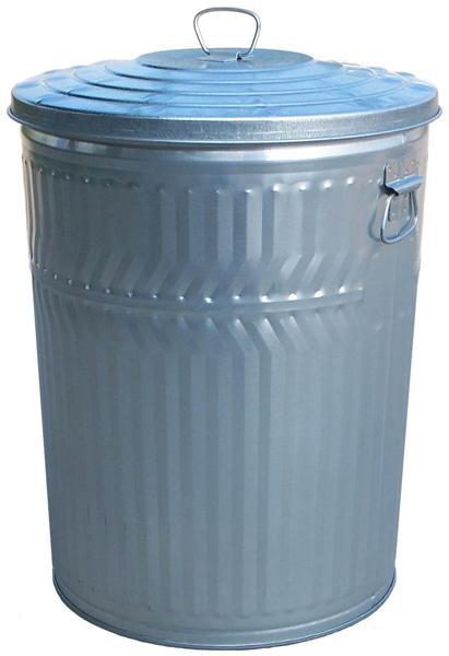 32-Gal. Covered Top Metal Trash Receptacle - Economy