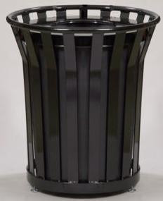 24 Gal. Receptacle With Flat Top Lid and Plastic Liner