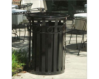36 Gal. Receptacle with Ash Urn Lid And Plastic Liner