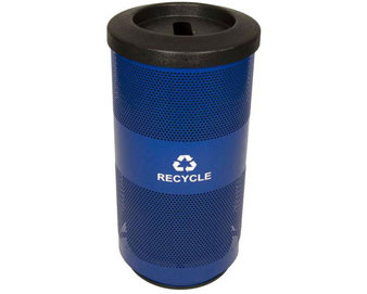 Round, Perforated, Recycling Container