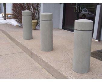 12 Diameter Round Concrete Bollard 5' or 6' Height