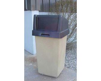 35 Gallon, 20 Sq Concrete Receptacle W/Hood or Flat Top