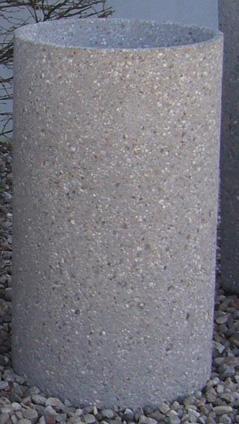 24 Round Concrete Ashtray
