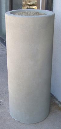 36 Round Concrete Ashtray