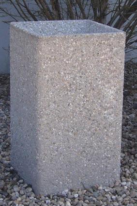 24 Square Concrete Ashtray