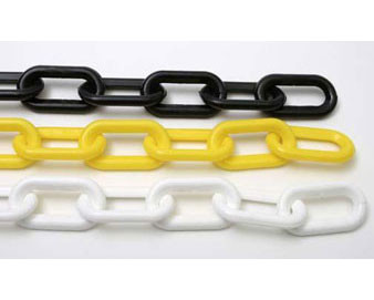 Plastic Stanchion Chain by the Box - 500 Feet