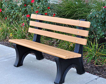 4ft Comfort Park Avenue Recycled Plastic Bench