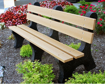 Colonial Recycled Plastic Bench