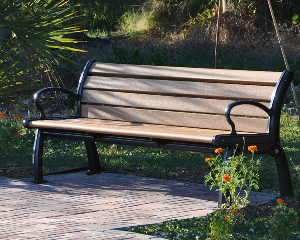 4-Ft. Heritage Recycled Plastic Bench