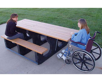 7.5-Ft. Recycled Plastic ADA Picnic Table
