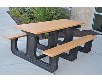 8-Ft Recycled Plastic Picnic Table