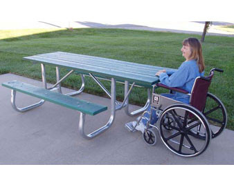 8-Ft. ADA Picnic Table with Galvanized Frame